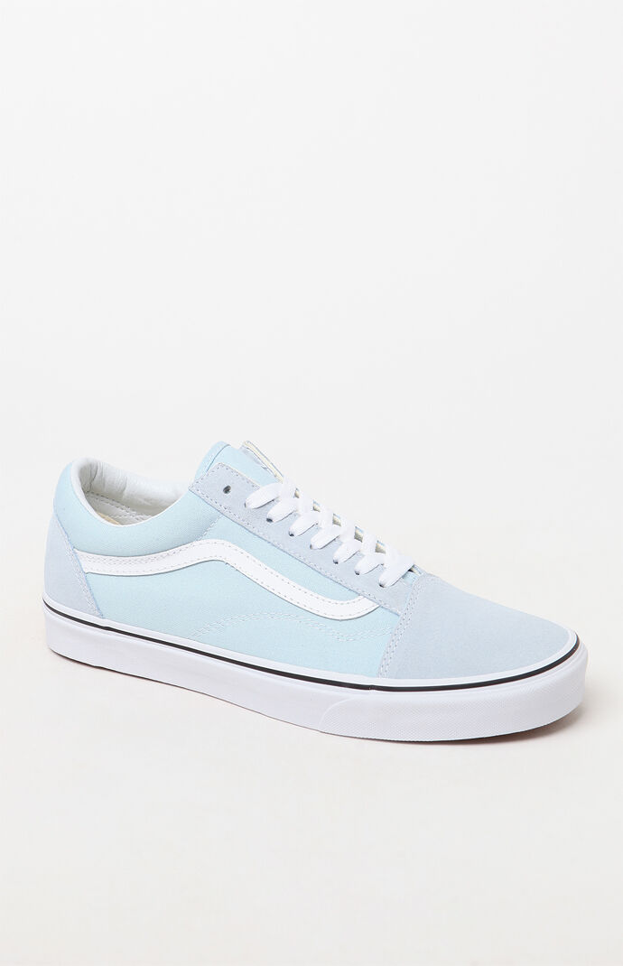 ae91855cdf Vans Old Skool Light Blue and White Shoes at PacSun.com