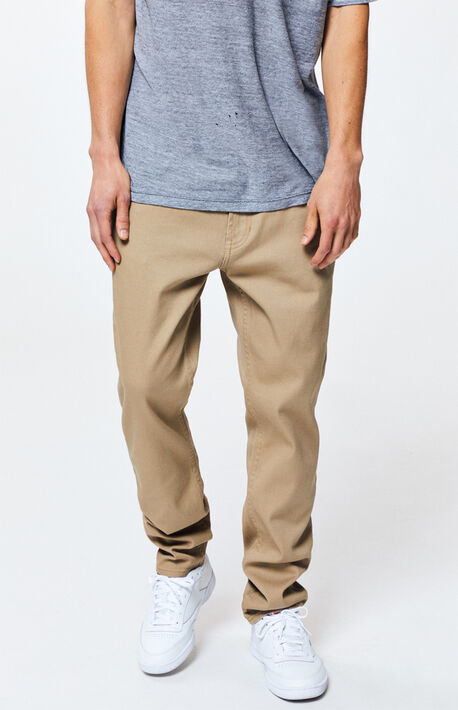 Khaki Slim Fit Jeans