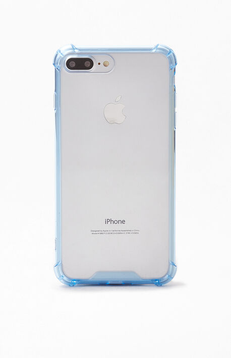 Clear Blue iPhone Plus Case