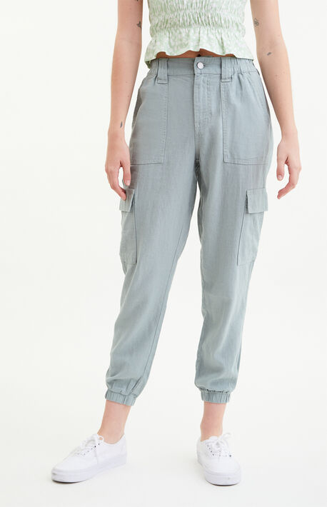 Seaspray Linen Cargo Joggers