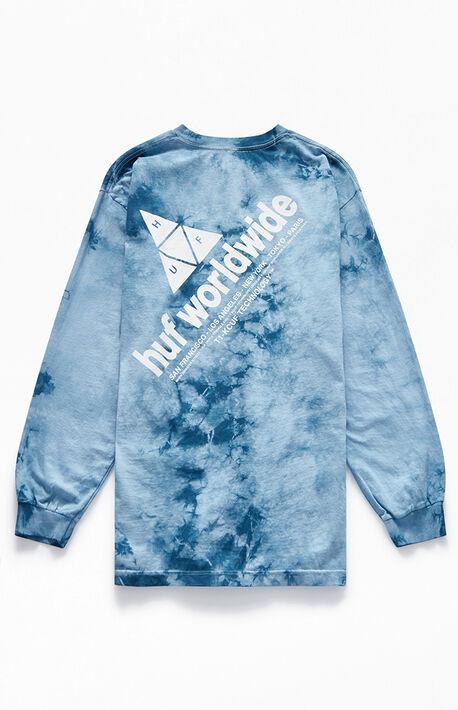 Peak Logo Crystal Wash Long Sleeve T Shirt