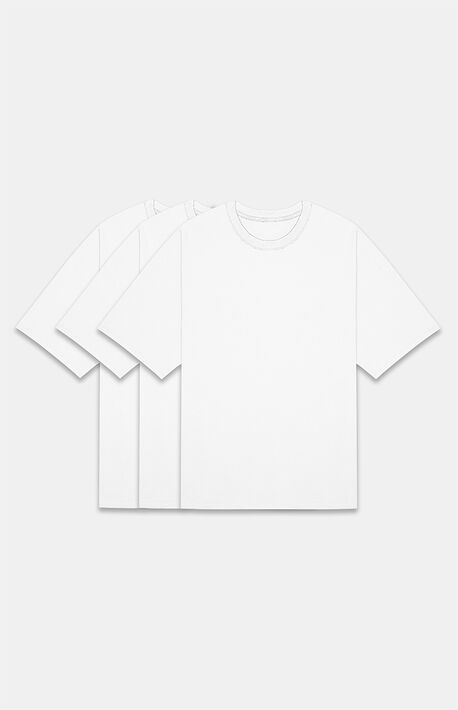 Essentials White 3 Pack T-Shirts