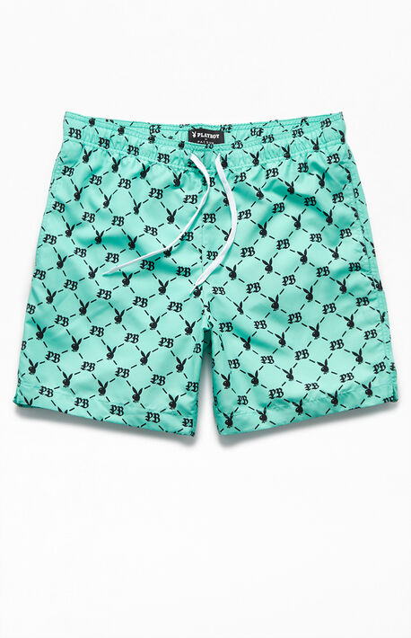 "By PacSun Monogram 17"" Swim Trunks"