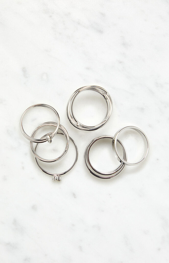 Silver Stacked Ring Pack