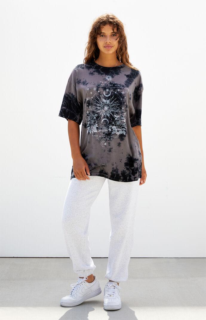Tie-Dyed Sun & Spirit Oversized T-Shirt