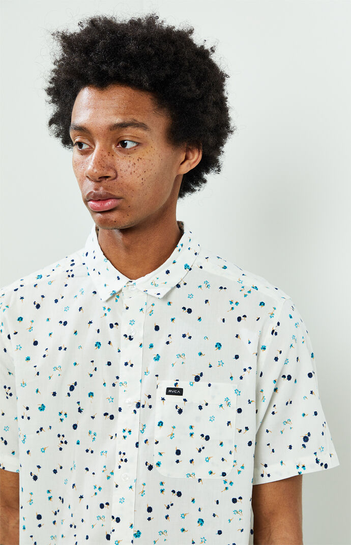 Calico Short Sleeve Button Up Shirt
