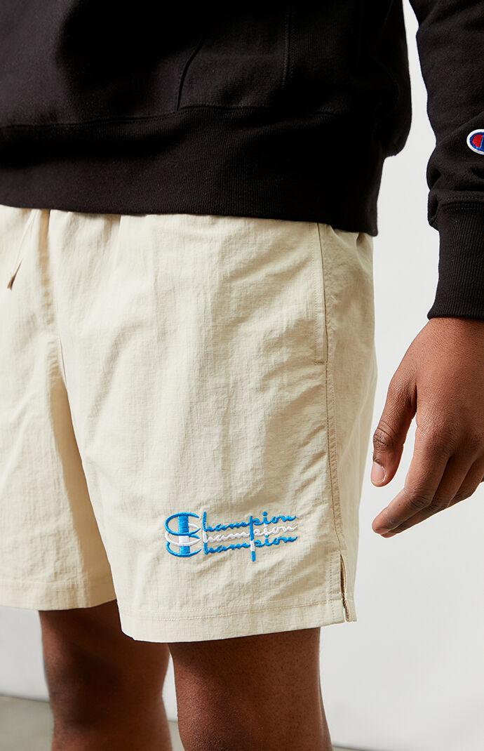 Khaki Stacked Nylon Ripstop Shorts