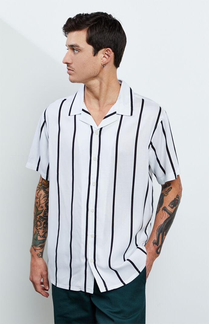 White Striped Camp Shirt