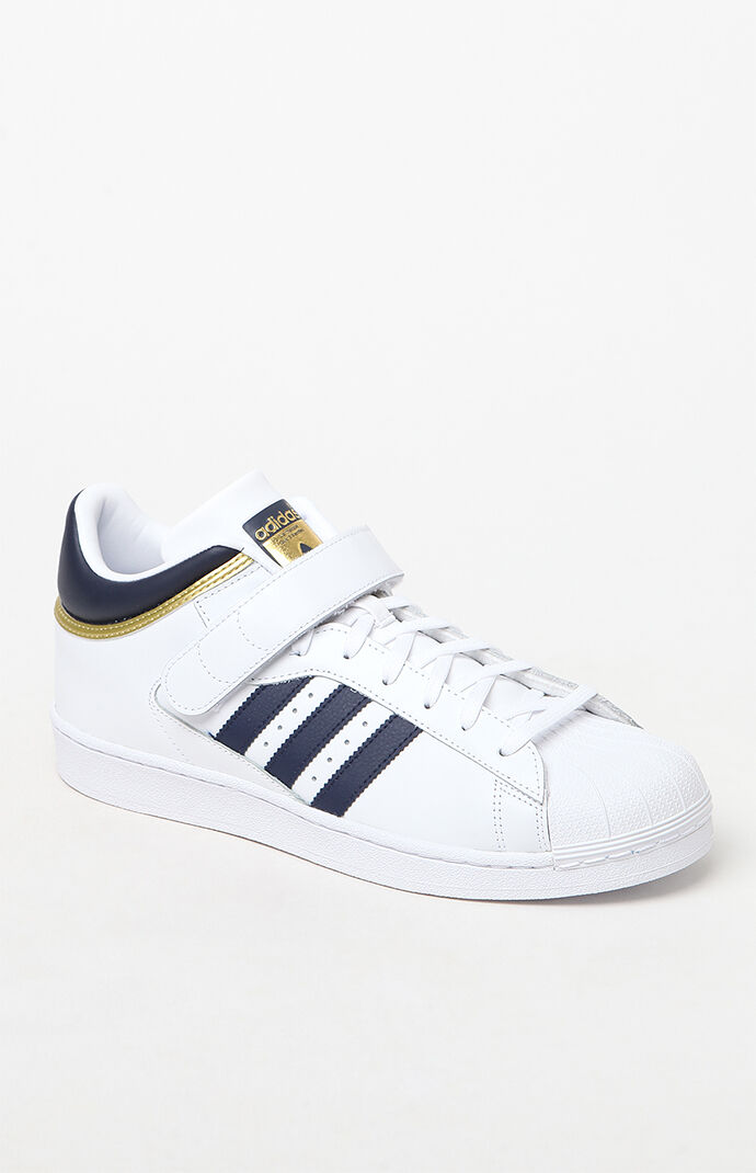 adidas Pro Shell White & Blue Shoes - Blue/white 6598049