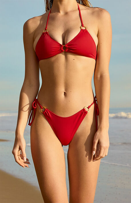 Red Ivy Ring Bikini Bottom