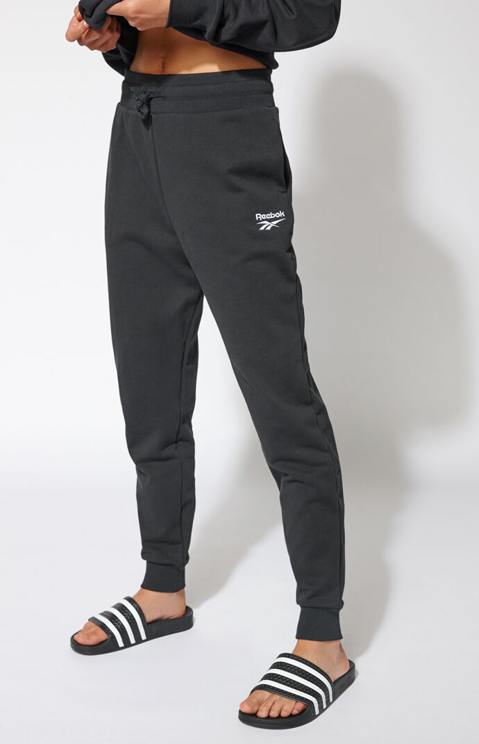 Reebok Womens Cotton Jogger Pants - Black 7533516