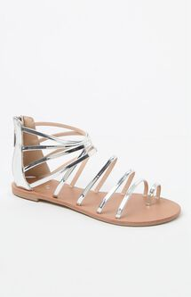 Strappy Metallic Gladiator Sandals