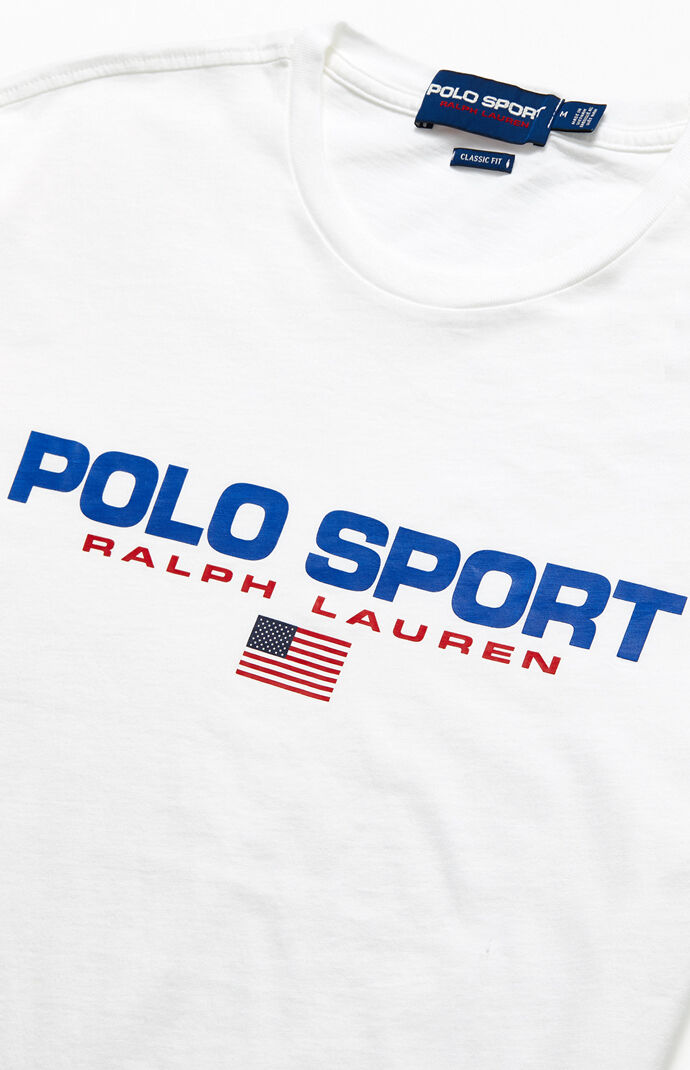 White Polo Sport Icons T-Shirt
