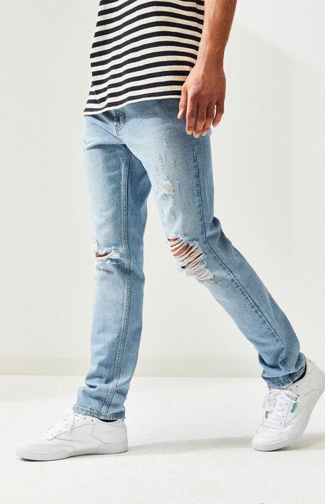 5169d742 Brite Indigo Destroy Slim Fit Jeans