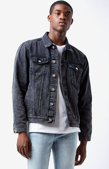 Classic Black Denim Trucker Jacket