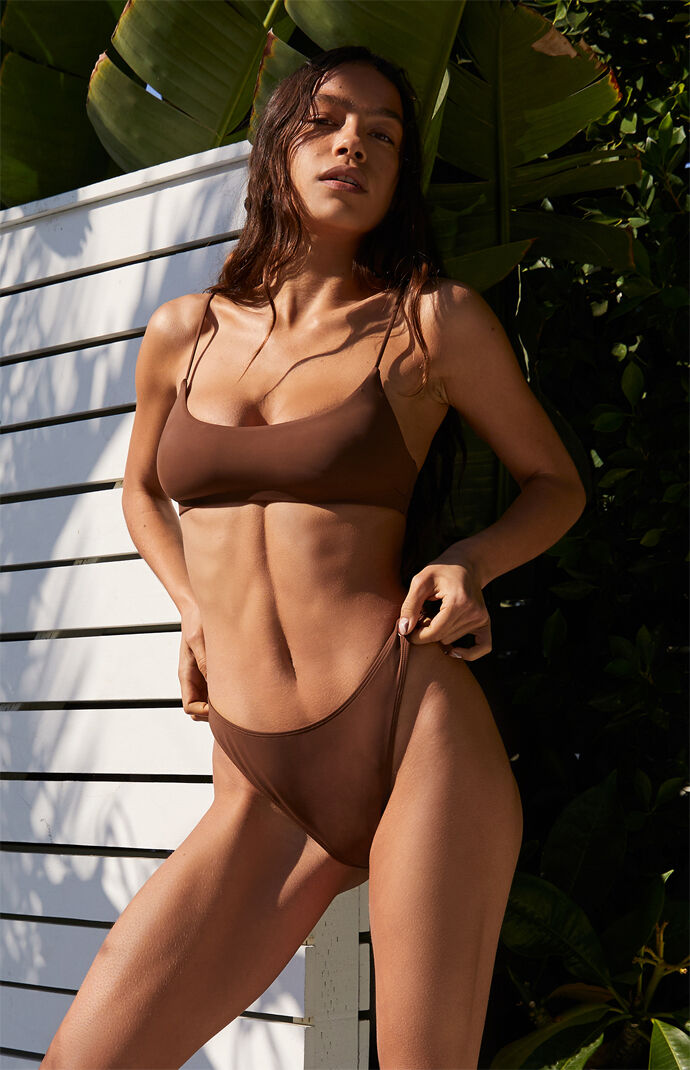 Brown Dixie High Waisted Bikini Bottom