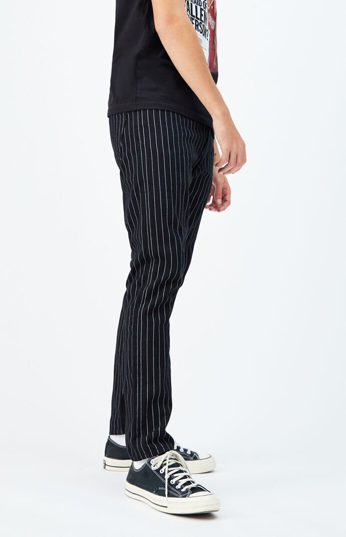 Striped Slim Taper Jeans