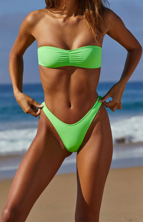 Green Lagoon High Cut Bikini Bottom