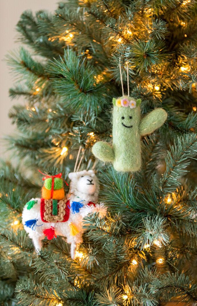 Cactus Felt Ornament