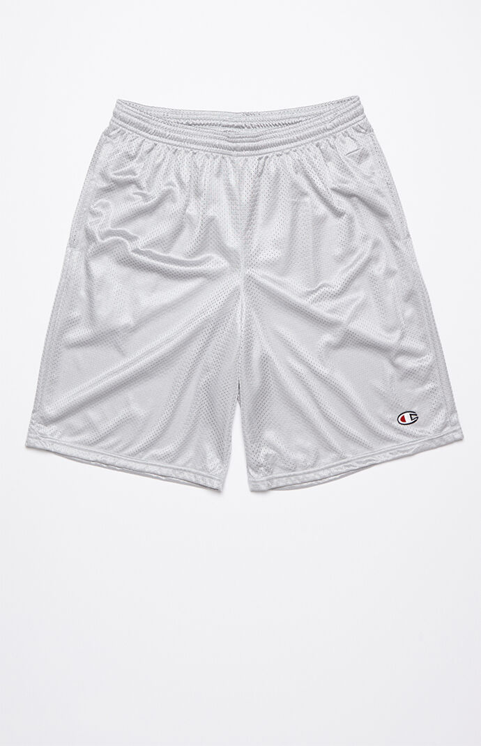 Champion Classic Mesh Drawstring Active Shorts - Heather Grey 7168842