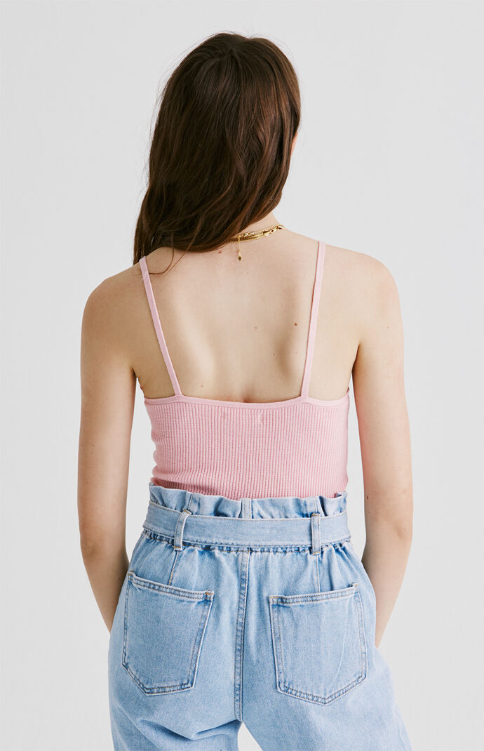 Ribbed Scoop Cami Top