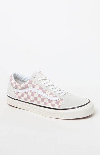 Anaheim Factory Old Skool 36 DX Mauve Checker Shoes