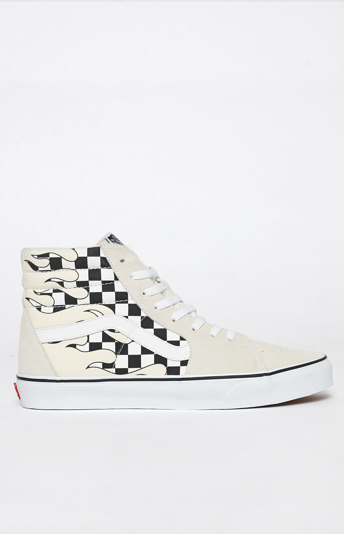 Vans Checker Flame Sk8-Hi Shoes | PacSun