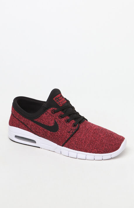 sports shoes 93469 a406b Stefan Janoski Max Black  amp  Red Shoes · Nike ...