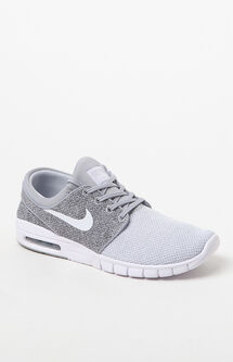 Stefan Janoski Max Knit Grey & White Shoes
