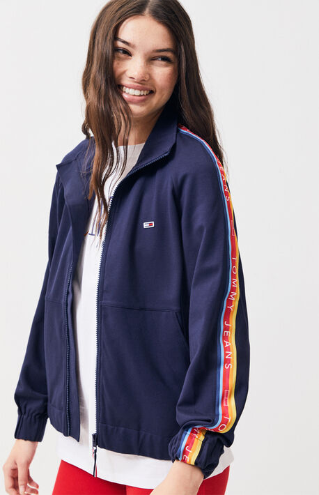 f0e3da977f8d2 Tommy Jeans Colorblock Zip Track Jacket. 169.0.  169.00. Logo Taped Track  Jacket