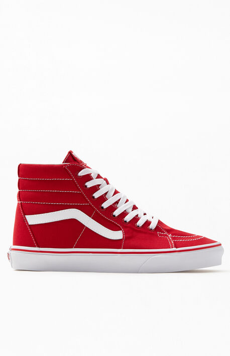 e05a5c6b3b Canvas Sk8-Hi Red Shoes · Vans ...