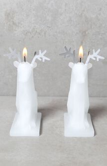 Sparks Mini Reindeer Candles, Set of 2