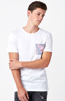 Evergreen Flamingo Pocket T-Shirt