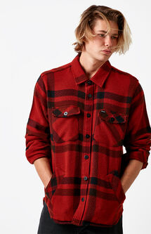 Durham Plaid Flannel Long Sleeve Button Up Shirt