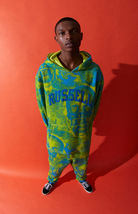x Russell Athletic Blue Graphic Hoodie