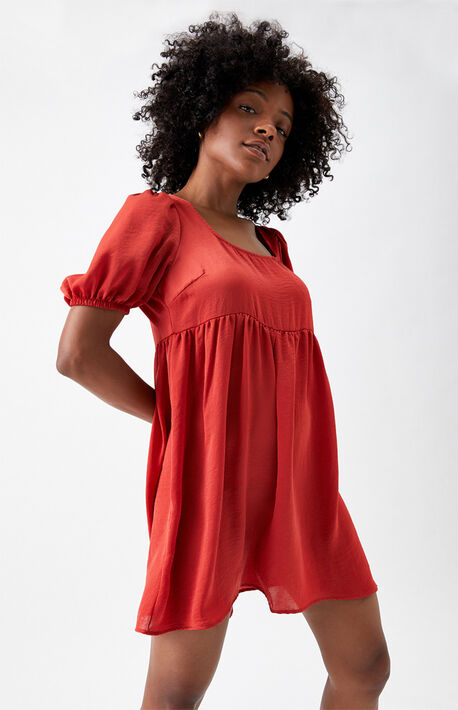 Eco Tie Back Babydoll Dress