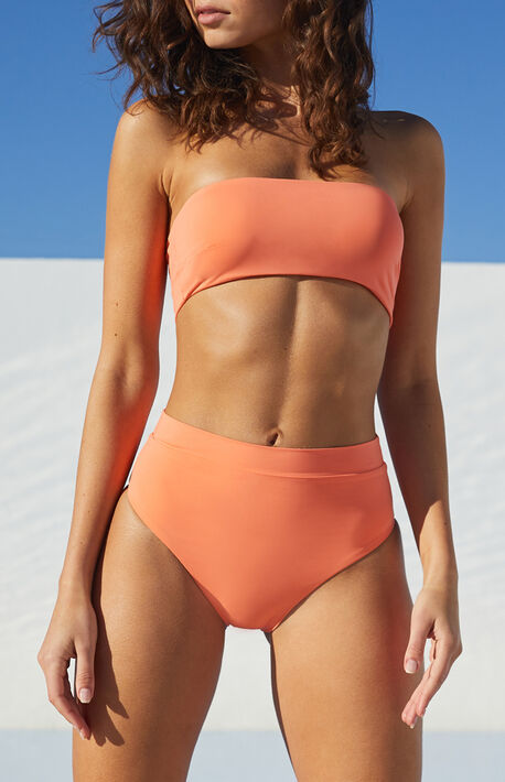 Eco Pink Sig High Waisted Bikini Bottom