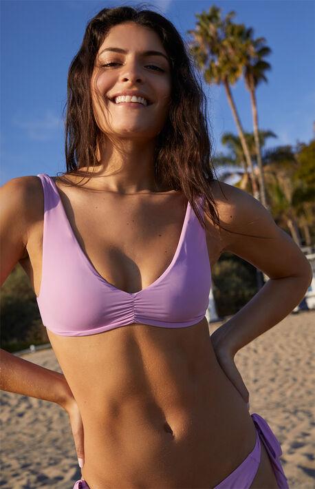 Lavender Emilia Tie Back Bikini Top