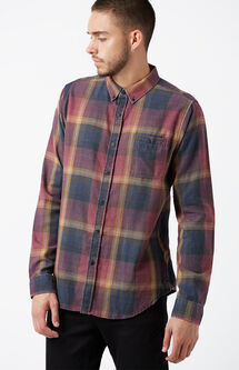 Connor Plaid Flannel Long Sleeve Button Up Shirt
