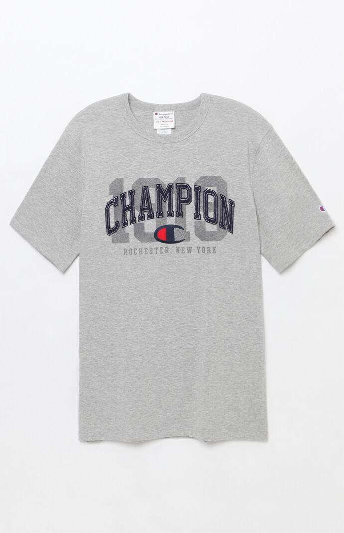 Champion Mens Arch Logo T-Shirt - Heather Grey 7680606