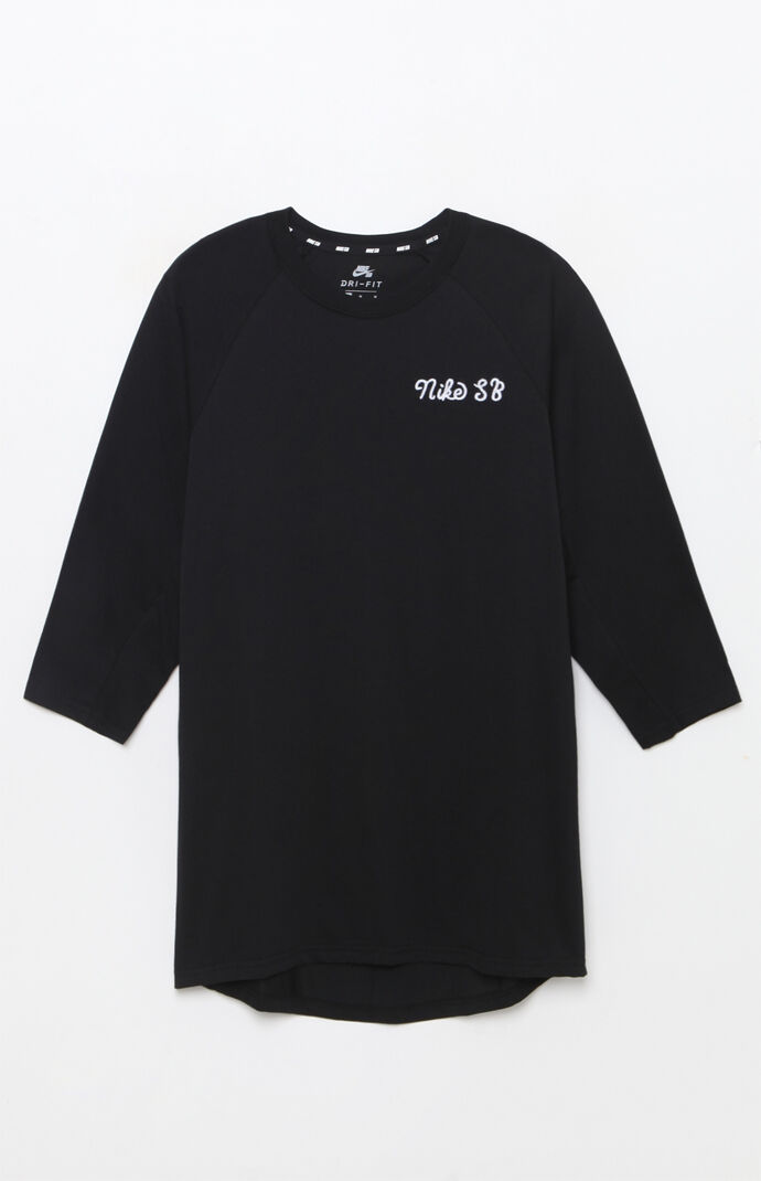 Nike SB Dri-FIT GFX 3/4 Sleeve T-Shirt - Black 6553705
