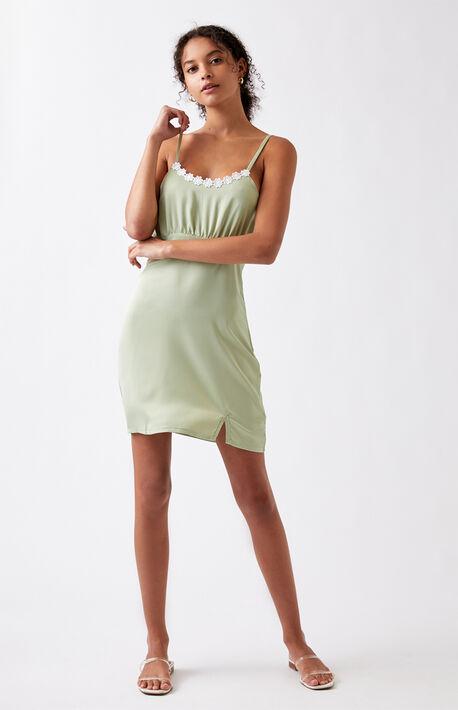 Daisy Lace Trim Mini Dress