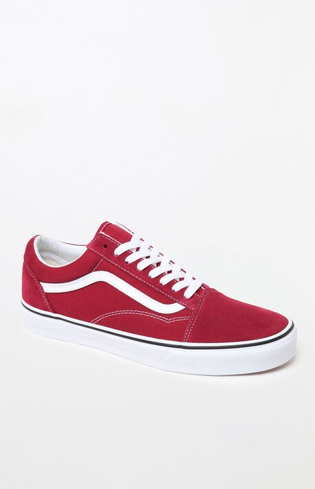033f5ff0445d57 Red  amp  White Old Skool Shoes