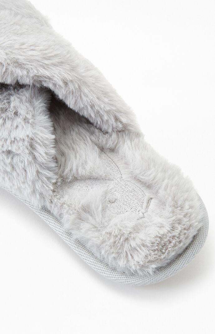 By PacSun Dark Gray Fuzzy Slippers