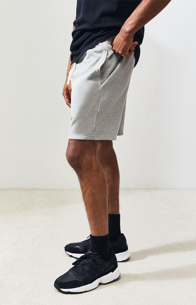 Gray French Terry Active Shorts