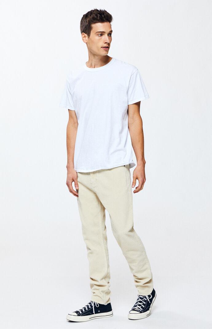 Khaki Slim Taper Corduroy Pants