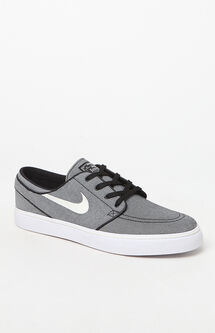 Zoom Stefan Janoski Canvas Black & Sail Shoes