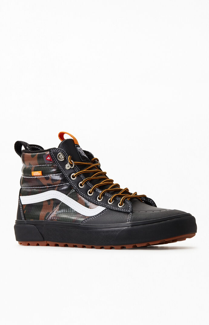 vans black camo sk8 hi mte 2 0 dx shoes pacsun pacsun