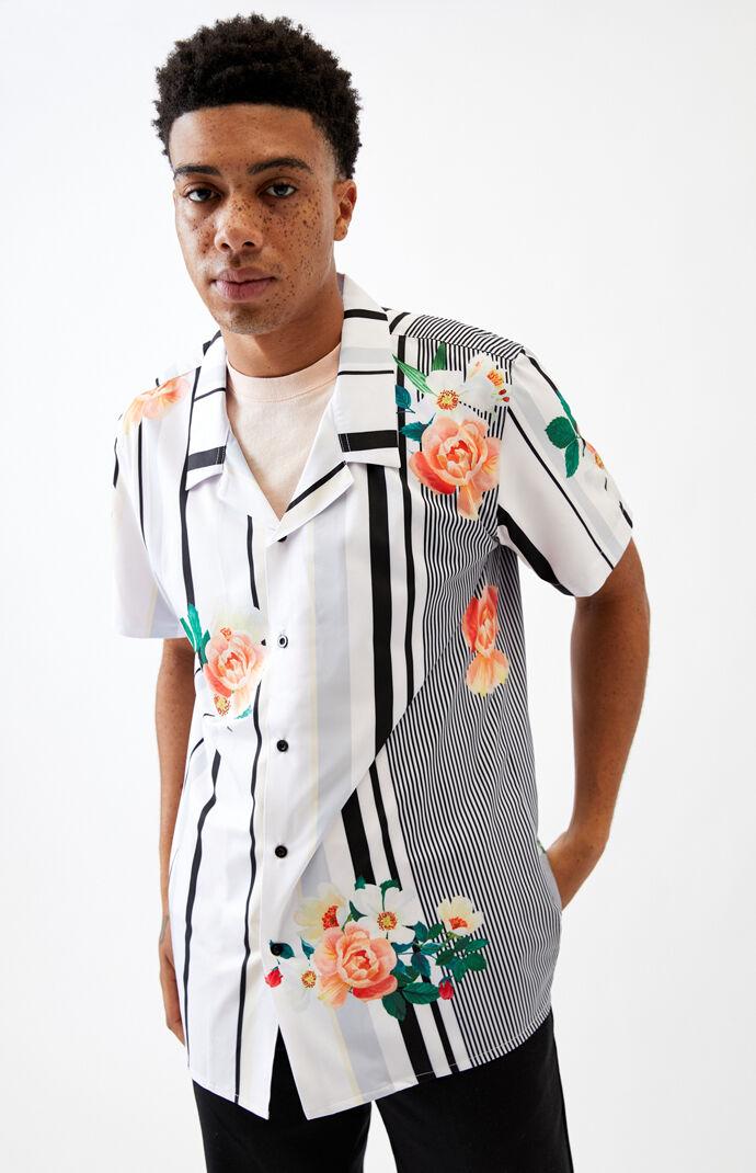 Sunday Morning Short Sleeve Button Up Shirt