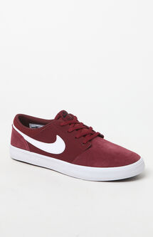 Solarsoft Portmore II Suede Red & White Shoes